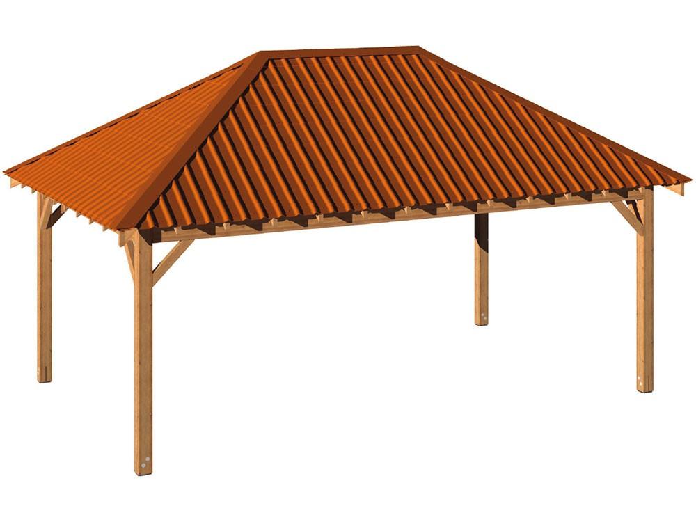 Le carbet en bois avec toiture en Pin classe 4 DURAPIN marque PIVETEAUBOIS Vivre en Bois