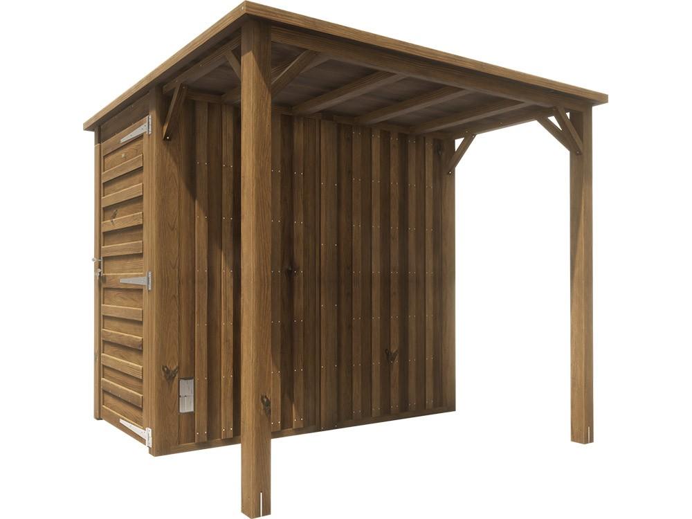 Abri bois avec auvent Ontine 4,7 m² classe 4 technologie DURAPIN marque PIVETEAUBOIS Vivre en Bois