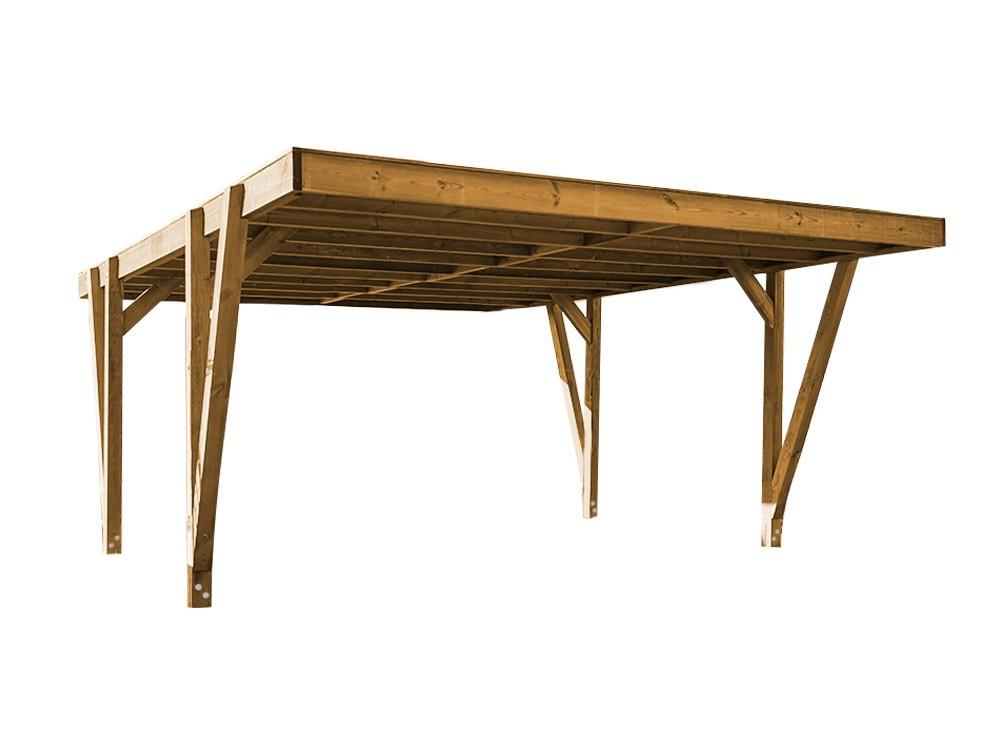 Carport bois Rigi en Pin technologie DURAPIN marque Piveteaubois Vivre en Bois