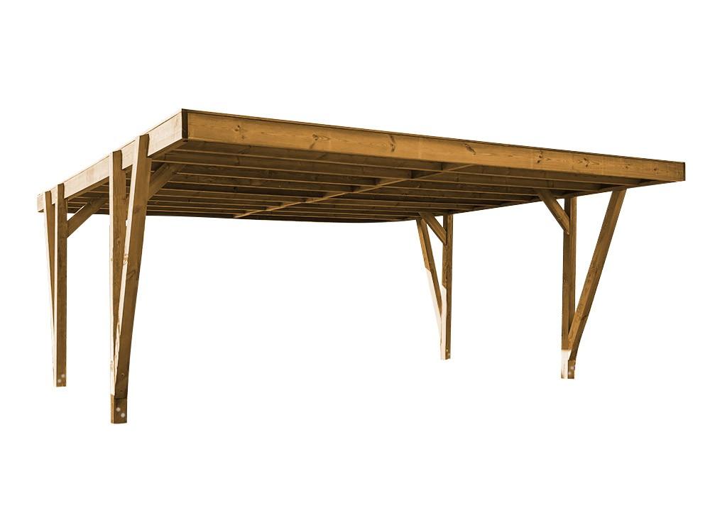 Carport bois Viso en Pin DURAPIN marque Piveteaubois Vivre En Bois