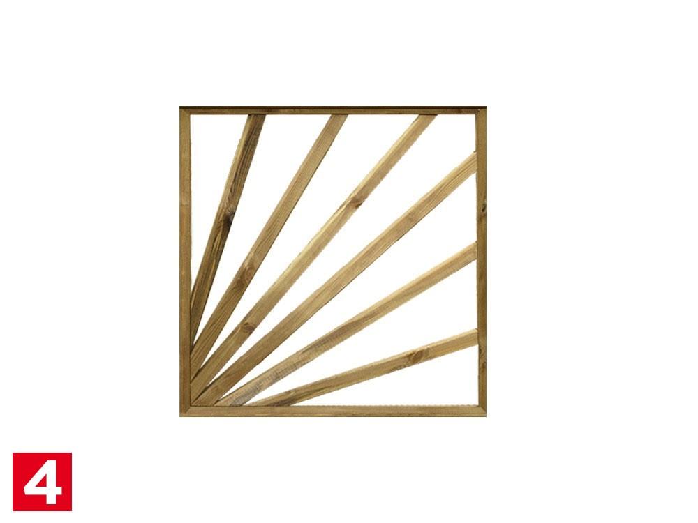 Module de clôture bois des Roseaux