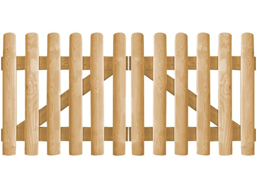 Clôture bois Bristol marron