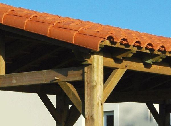 Abris bois Ancelle à toit terre cuite Vivre En Bois