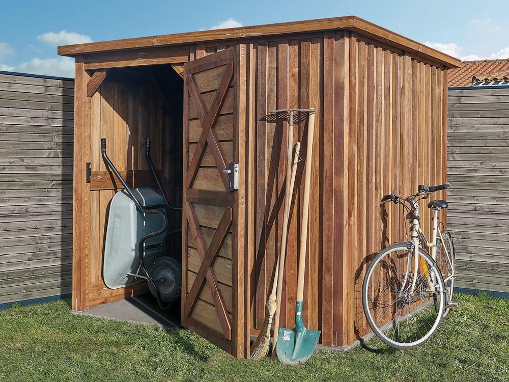 Idées rangement abri de jardin en bois Adour 4,7 m² technologie DURAPIN marque PIVETEAUBOIS Vivre en Bois