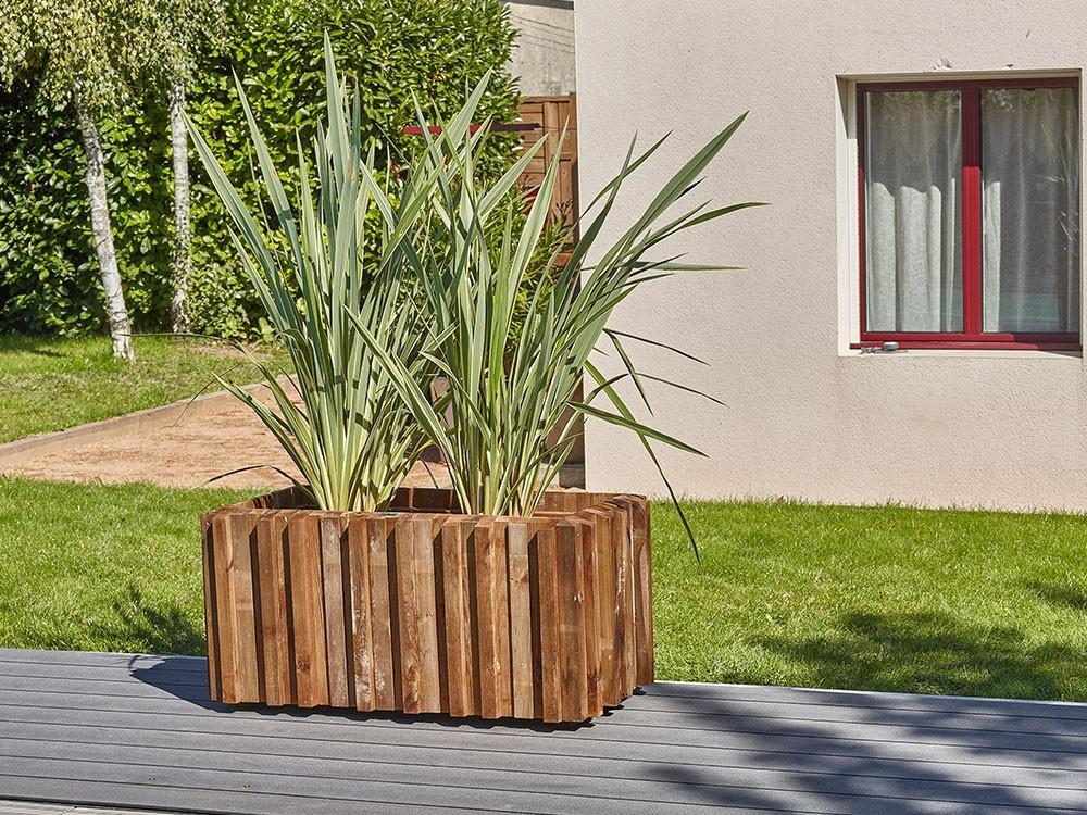Jardinière en bois rectangulaire Métis en Pin classe d'emploi 4 technologie DURAPIN marque PIVETEAUBOIS