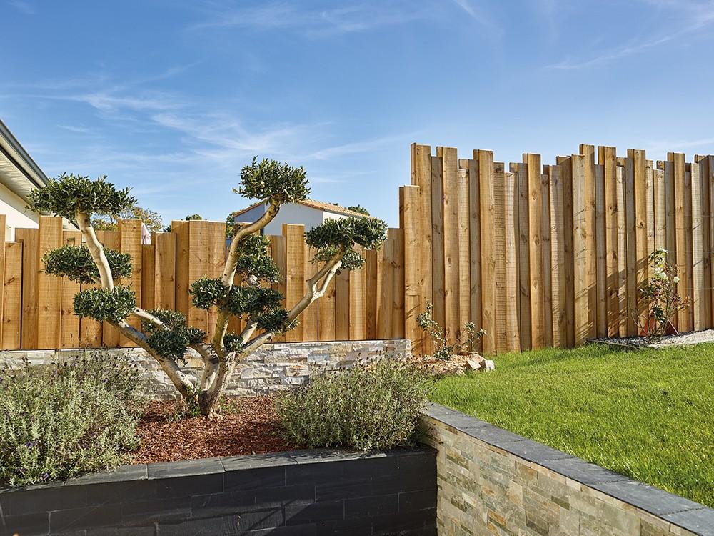 Brise vue bois Nymphéa recto-verso identiques en Pin classe d'emploi 4 technologie DURAPIN marque PIVETEAUBOIS Vivre en Bois