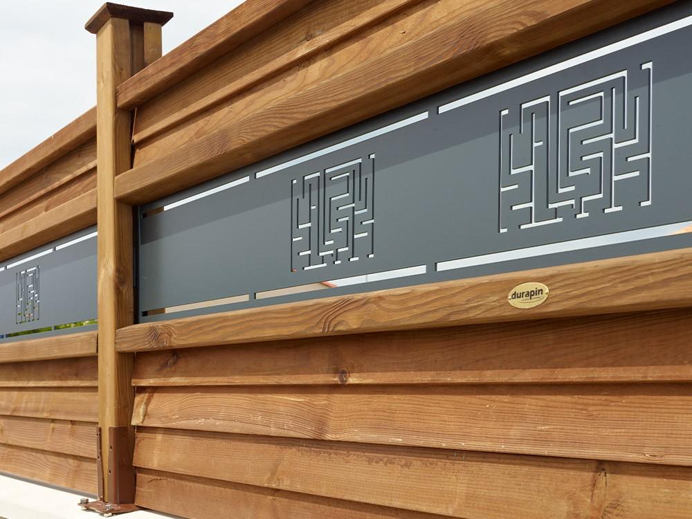 Lame décor gris anthracite pour clôture berline