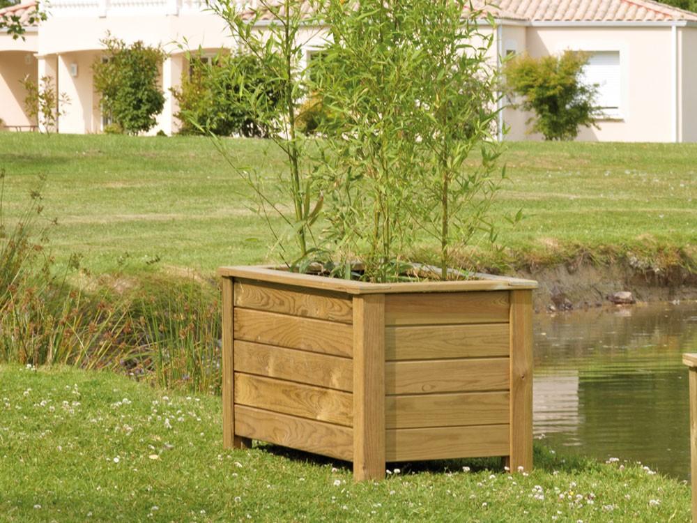 Jardinière rectangulaire Genêt 1000 en Pin classe d'emploi 4 marque PIVETEAUBOIS