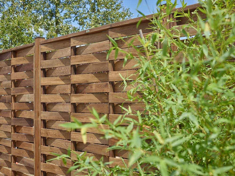 Lame bois clôture Lisbonne double face relief DURAPIN Vivre En Bois
