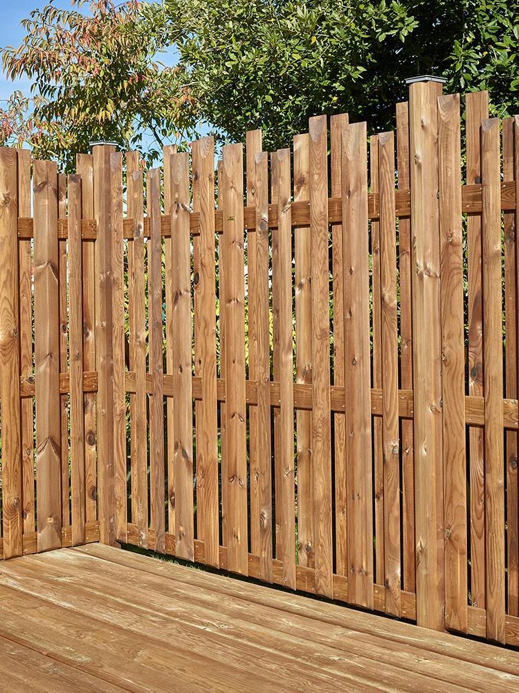 Panneau en bois Arizona marron par imprégnation en Pin classe 4 technologie DURAPIN marque PIVETEAUBOIS