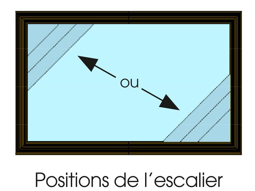 Dessin technique position escalier d'angle piscine Maéva Vivre En Bois