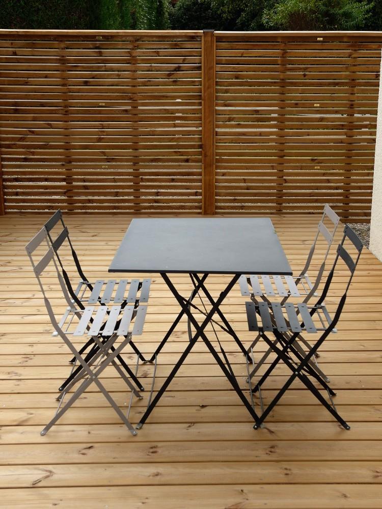 Clôture en bois avec panneaux à empiler Olympe Pin classe d'emploi 4 technologie DURAPIN marque PIVETEAUBOIS Vivre en Bois