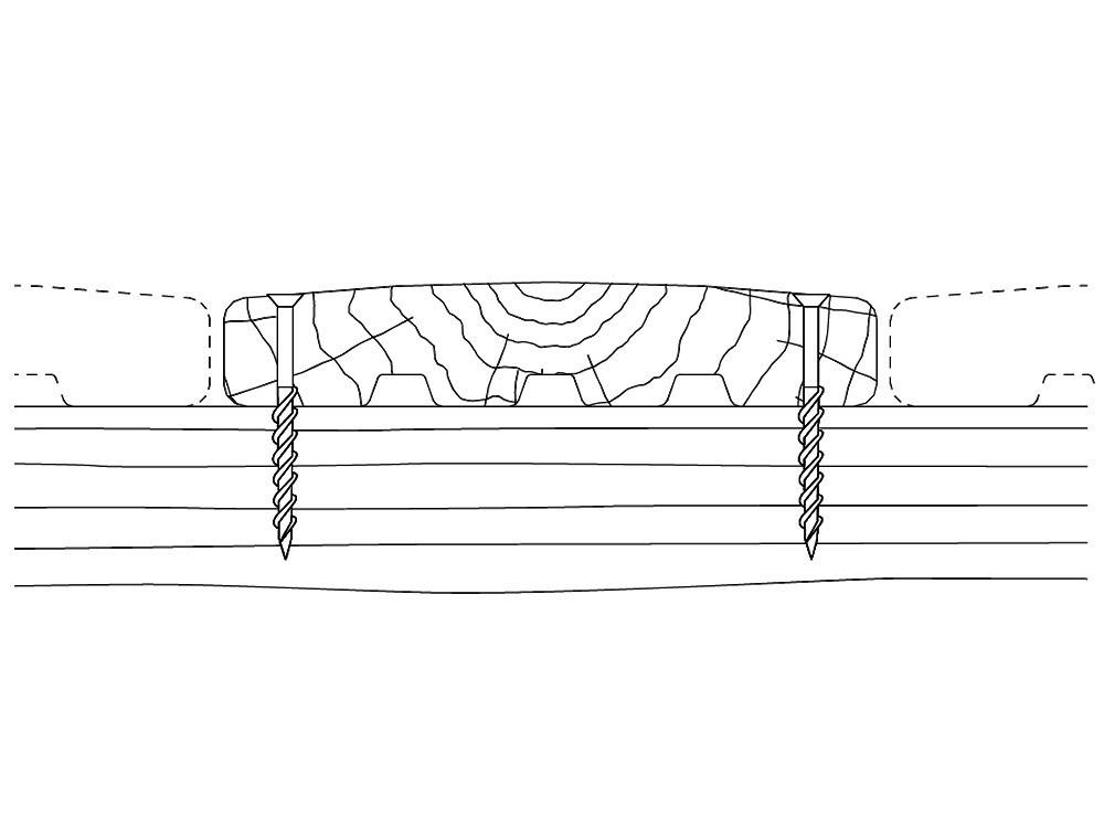 Dessin technique profilé terrasse bois
