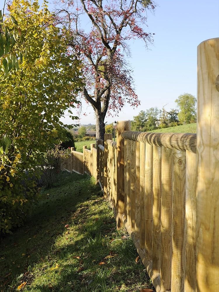 Palissade en bois Cottage Pin DURAPIN marque PIVETEAUBOIS