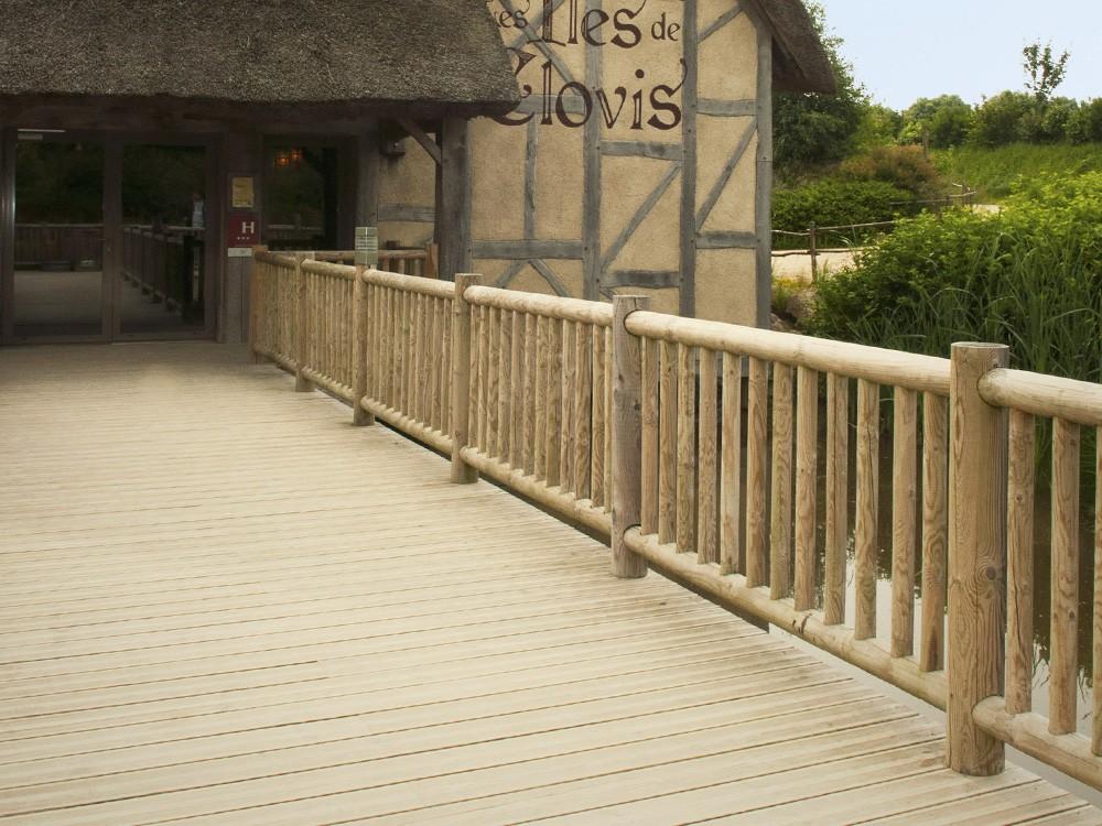Module de clôture marron Cottage en Pin classe 4 marque PIVETEAUBOIS