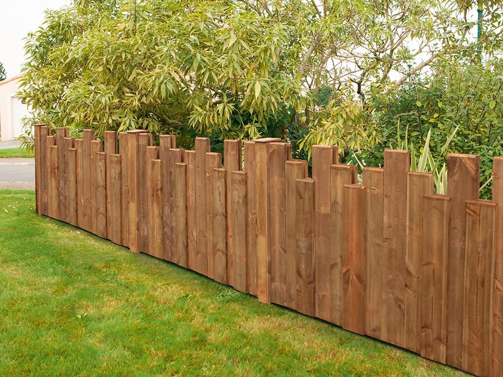 Palissade bois Nymphéa en Pin classe d'emploi 4 technologie DURAPIN marque PIVETEAUBOIS marron par imprégnation Vivre en Bois
