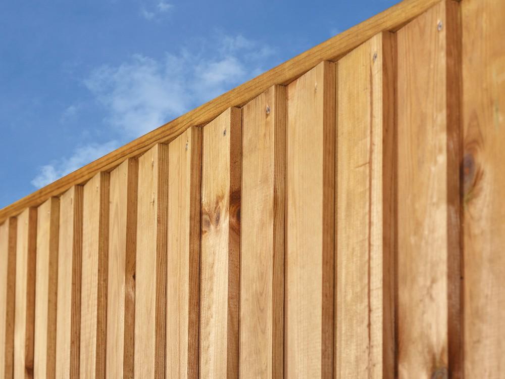 Lames persiennées panneau en bois marron Oasis Pin DURAPIN marque PIVETEAUBOIS Vivre en Bois