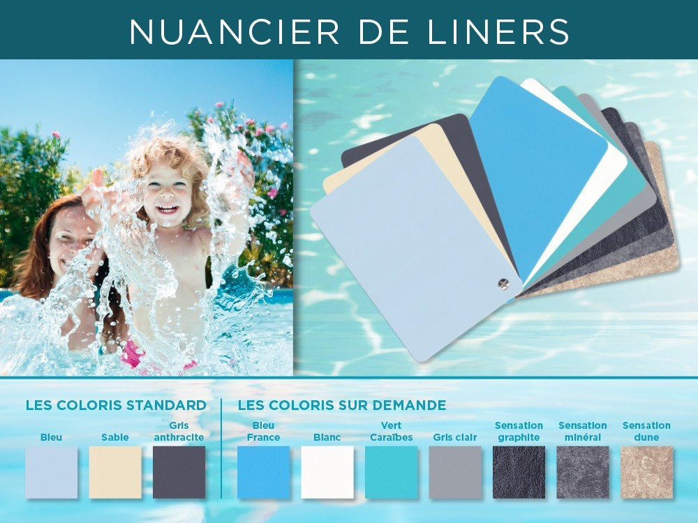 Nuancier couleur liner piscine Vivre En Bois