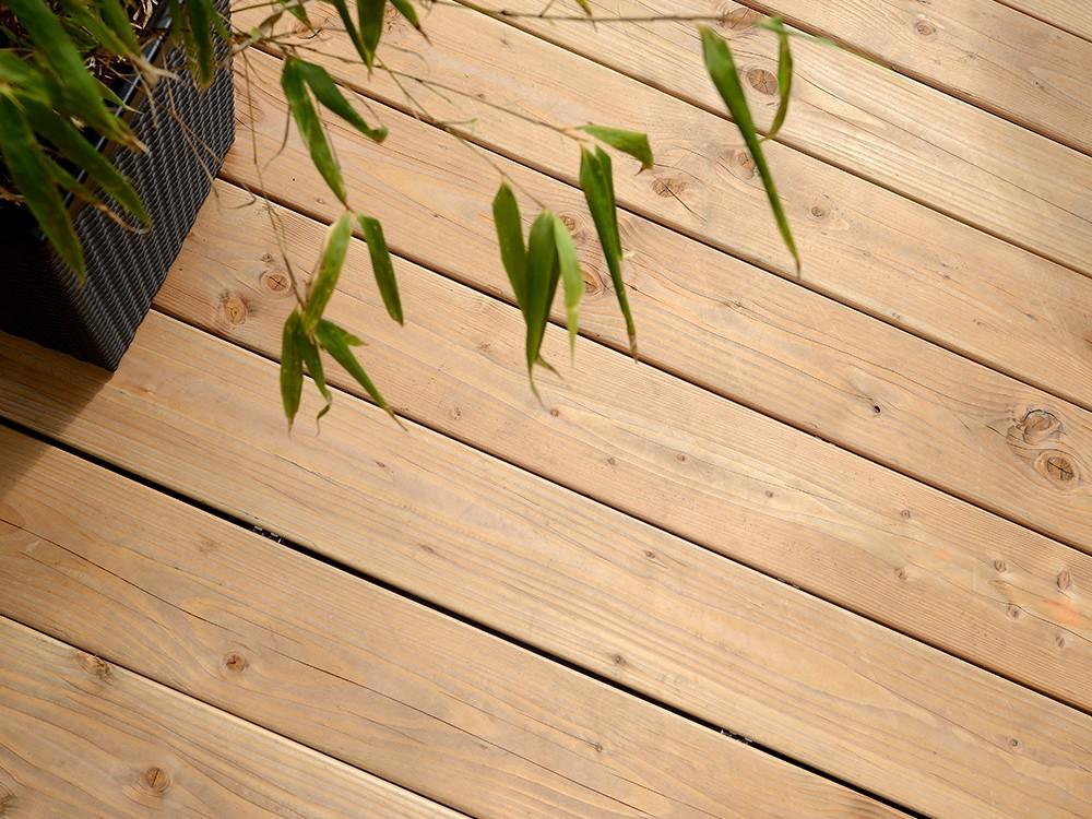 Dessin technique profilé de terrasse bois