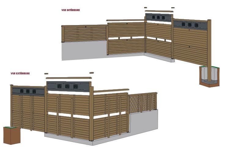 Panneau bois Olympe persienné en Pin classe d'emploi 4 technologie DURAPIN marque PIVETEAUBOIS marron par imprégnation Vivre en Bois
