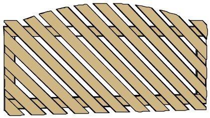 Clôture Clevand convexe inclinaison à gauche