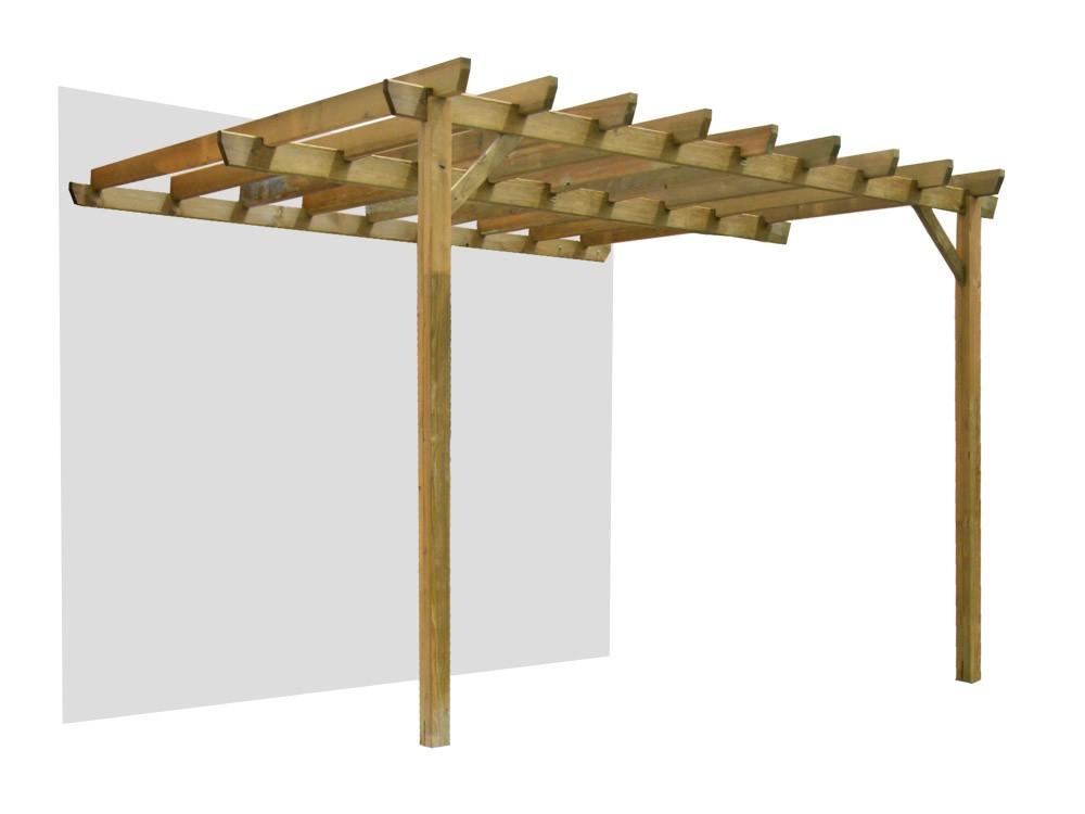 Pergola en bois Jugo adossée pin DURAPIN Vivre En Bois