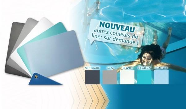 Différentes couleurs de liners pour Piscine Bois Maéva 930