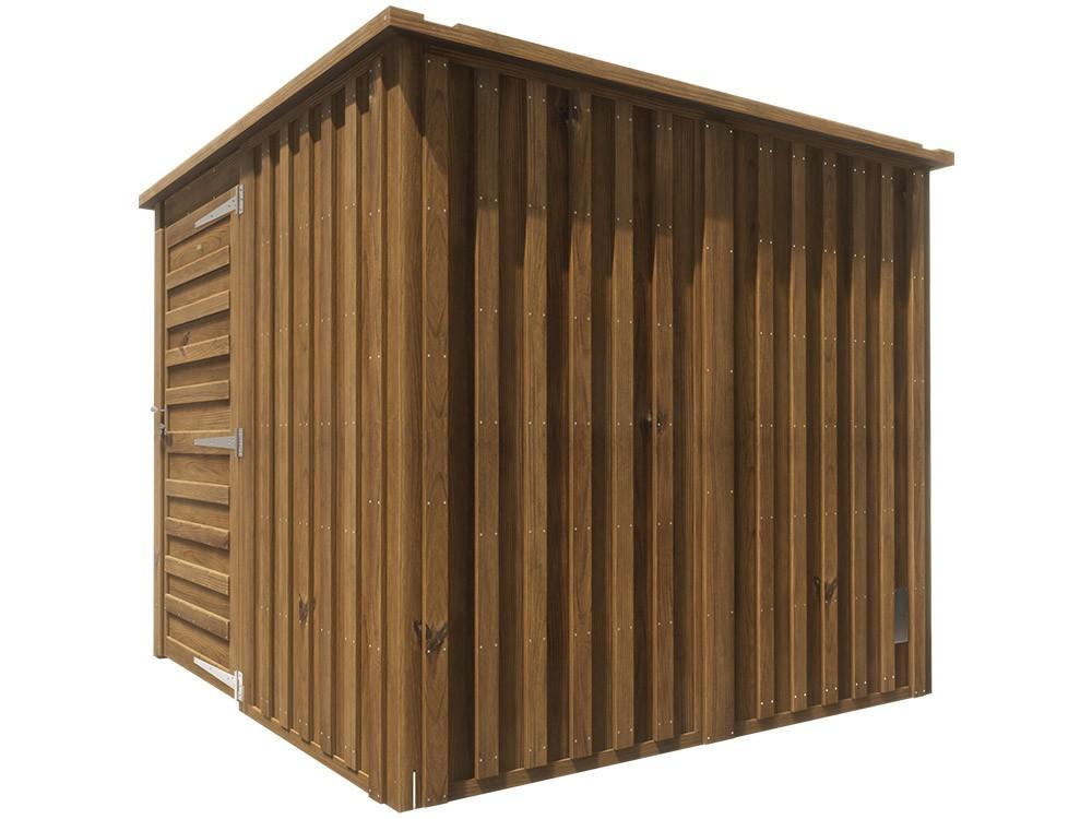 Abri bois Adour 4,7 m² en Pin classe 4 technologie DURAPIN marque PIVETEAUBOIS Vivre en Bois