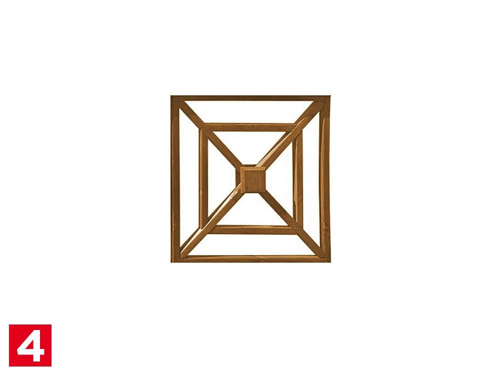 Clôture bois Croix de st André