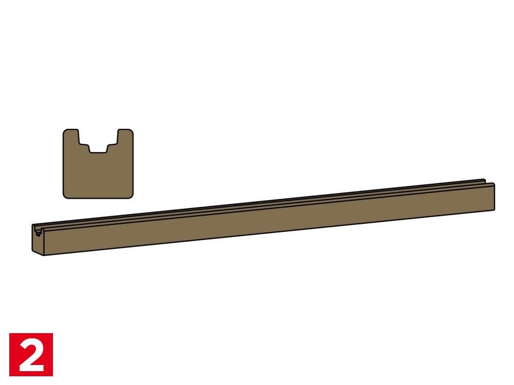Lisse basse en Pin Classe 4 marron