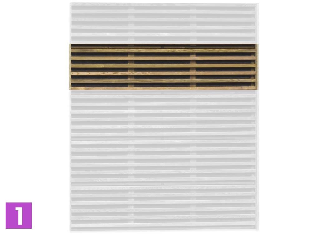 Module de panneaux bois acoustique Asti.