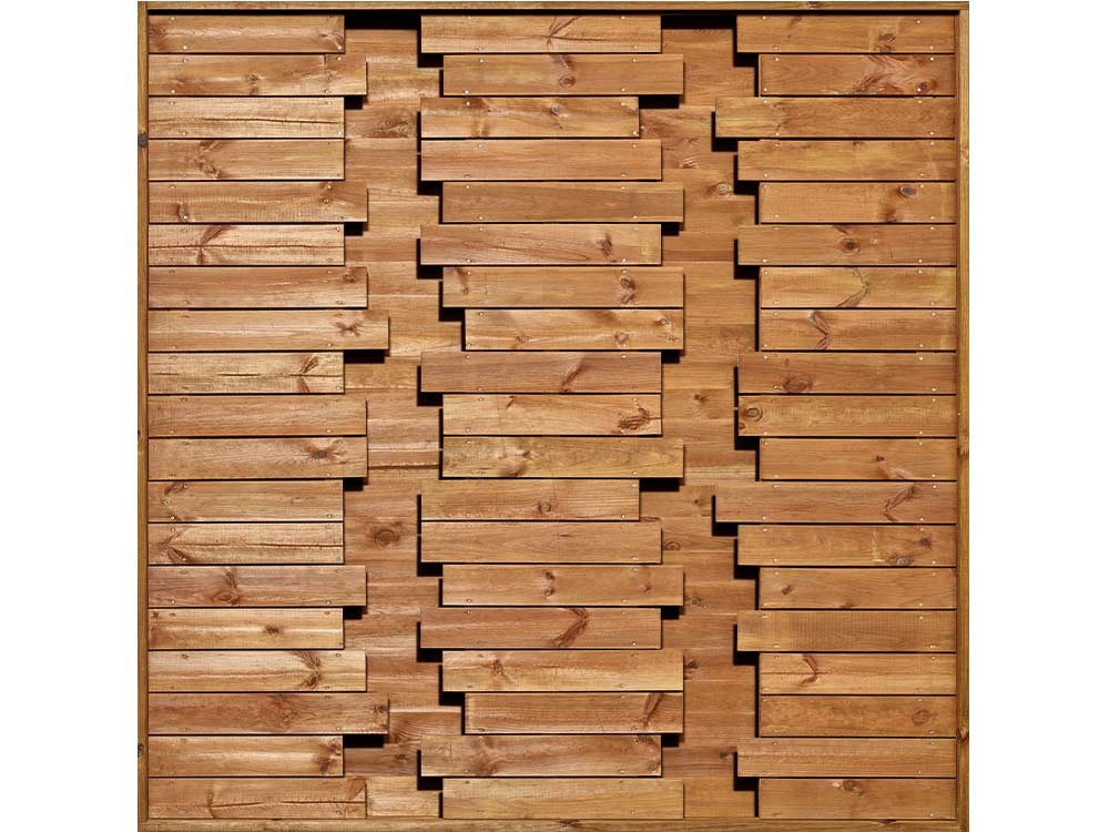 Panneau bois occultant Oasis en Pin DURAPIN marron classe 4 technologie DURAPIN marque PIVETEAUBOIS vertical Vivre en Bois