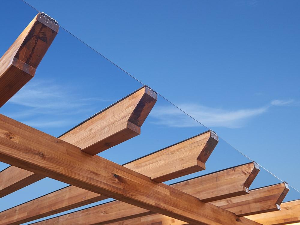 Kit plaque-polycarbonate pour pergola bois Albizia en Pin classe 4 technologie DURAPIN marque PIVETEAUBOIS Vivre en Bois