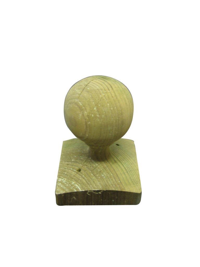 Boule pour poteau bois en Pin classe 4 vert