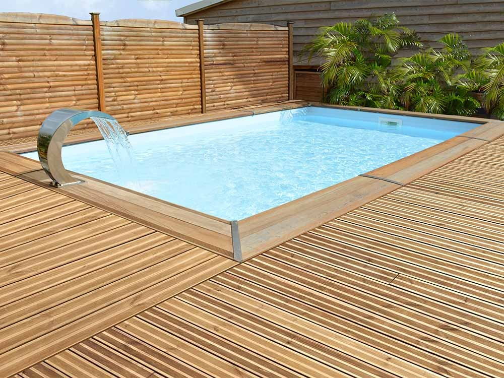 Piscine ma va rectangulaire 500 for Piscine bois enterree prix