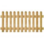 Clôture bois Bristol droite