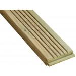 Lame de terrasse bois rainurée en Pin Classe 4