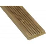 Lame de terrasse bois rainurée en douglas Classe 3b marron