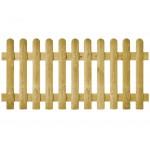 Clôture bois Bristol droite - Lames bombées