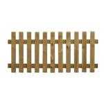 Clôture bois Maryland droite - Lames plates chanfreinées