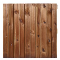 Dalle bois rainurée droit marron