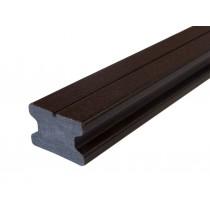 Lambourde en bois composite Noir graphite