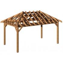 Carbet bois 3x5m sans toiture