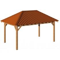 Carbet Bois 3x5m avec toiture