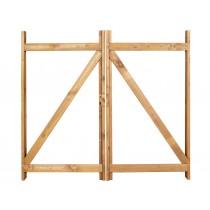 Kit cadre bois et ferrures pour création de portail