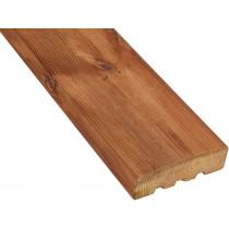 Lame de terrasse bois bombée Rio 46mm