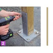 Poteau bois pour écran absorbant en Pin classe 4