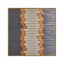Panneau bois Oasis 3 colonnes colorées