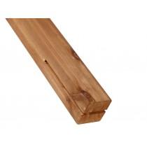 Poteau platine H renforce les fixation des cloture bois de technologie LAMWOOD Vivre en Bois