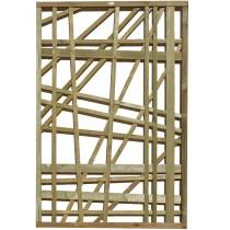 Treillis bois Régalisse Classe 4 Marron 180 x 120 cm